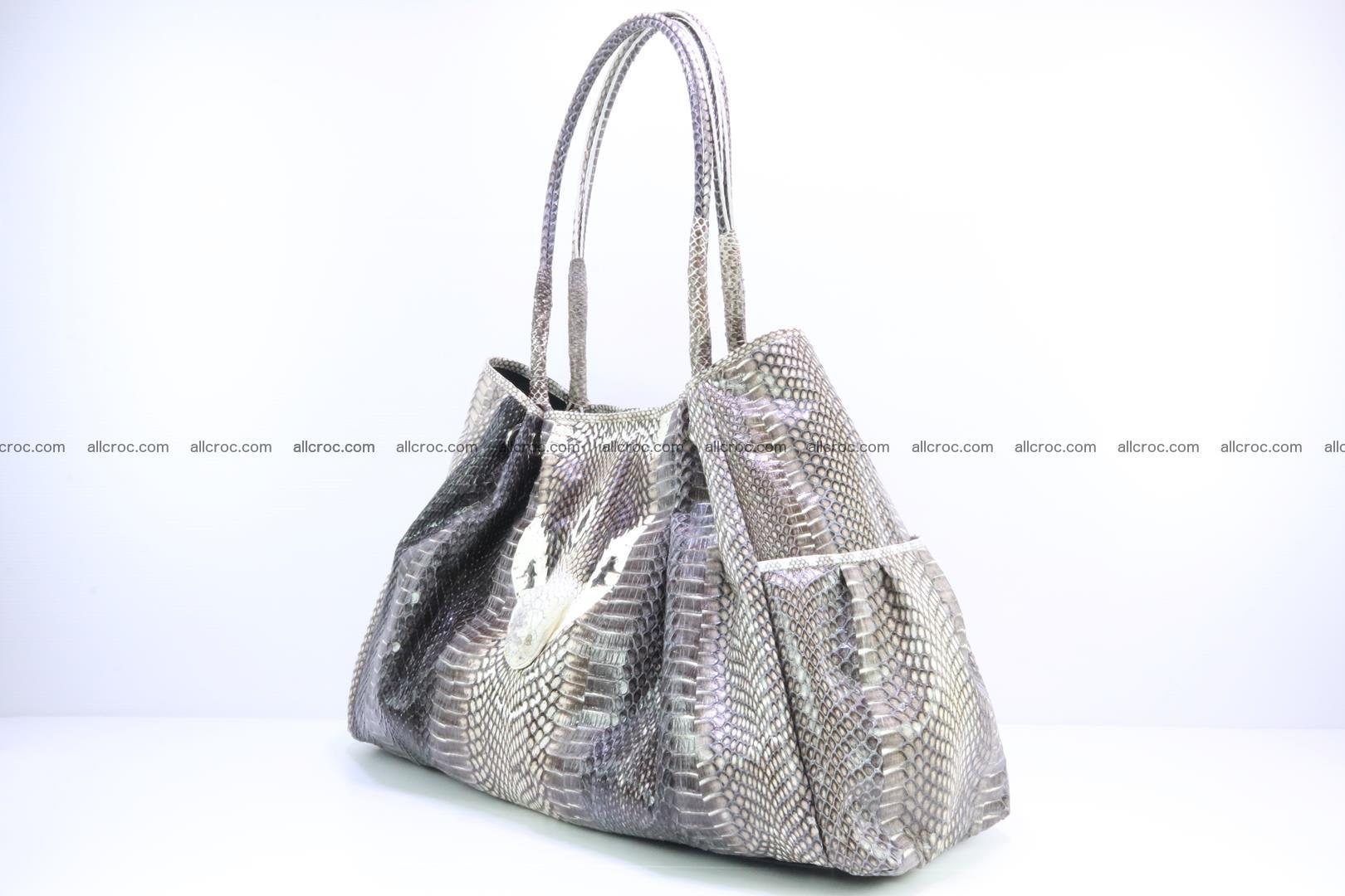 Handbag for lady from cobra skin with cobra head 169 Foto 2