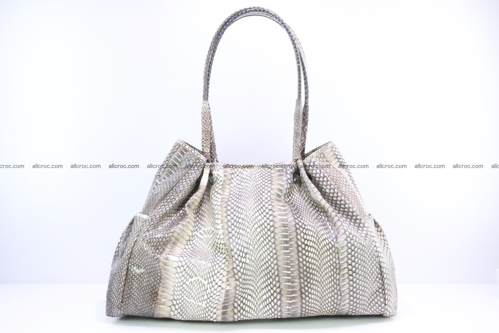 Handbag for lady from cobra skin with cobra head 169 Foto 3