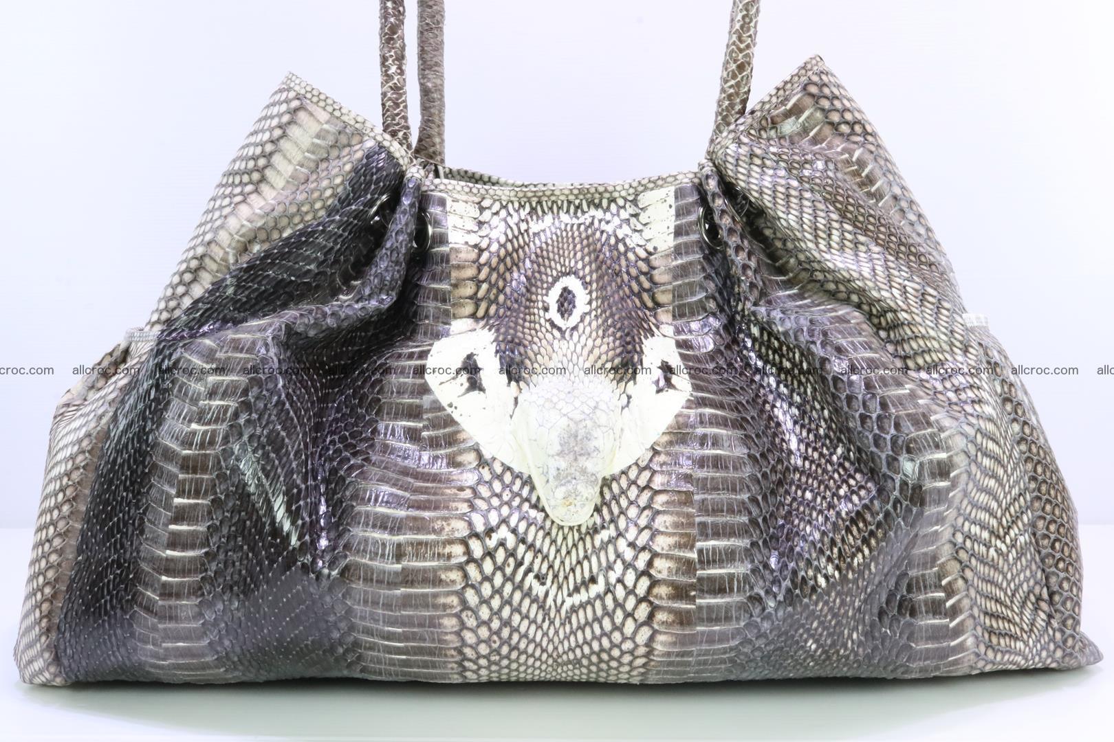 Handbag for lady from cobra skin with cobra head 169 Foto 4
