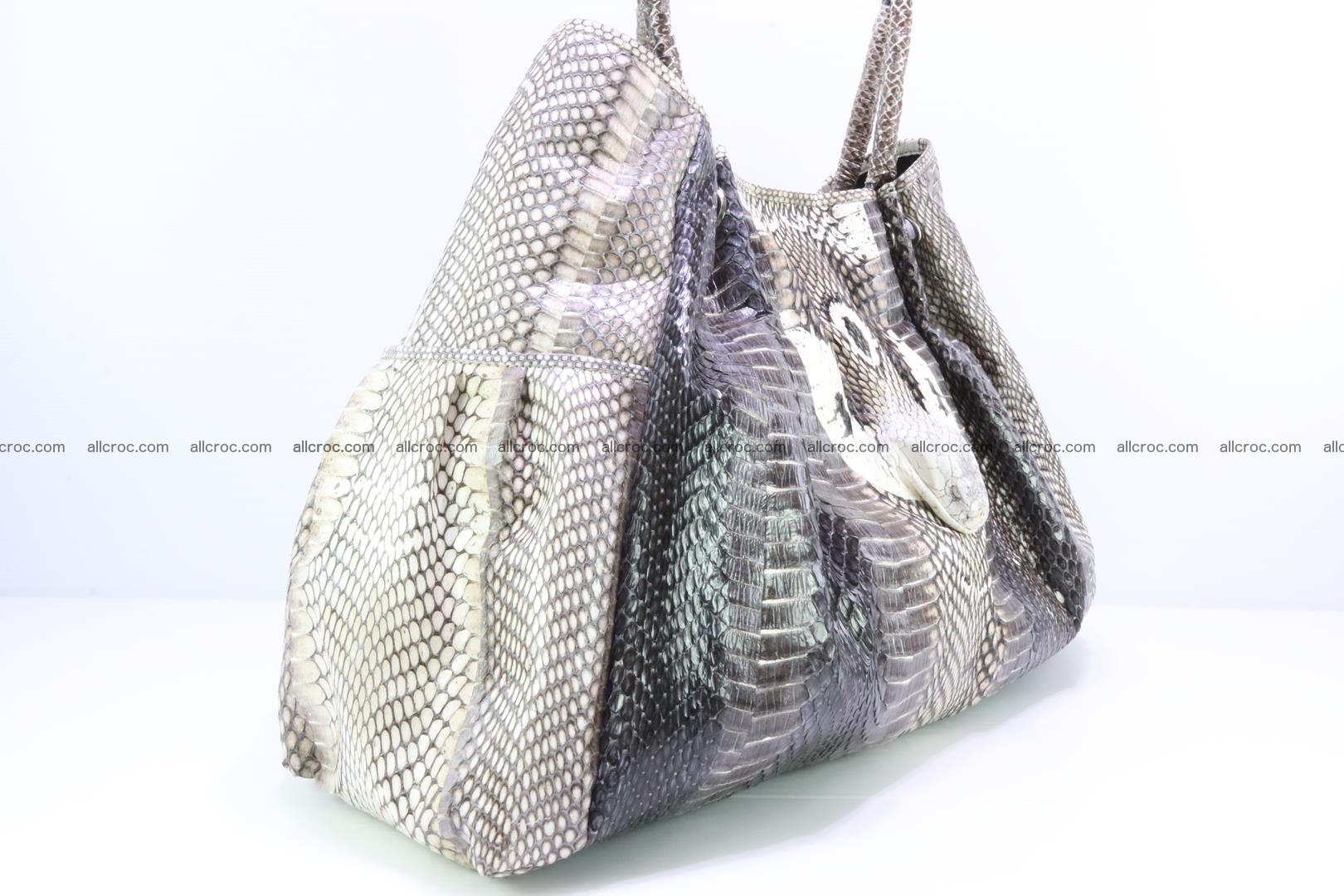 Handbag for lady from cobra skin with cobra head 169 Foto 5