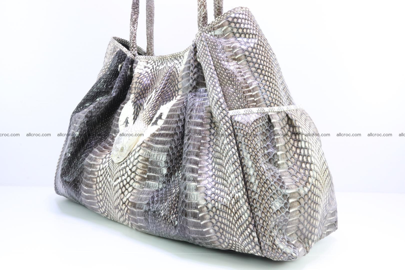 Handbag for lady from cobra skin with cobra head 169 Foto 6