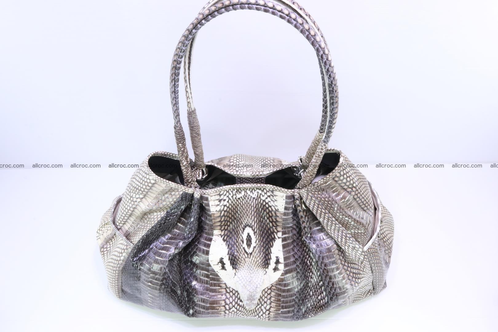 Handbag for lady from cobra skin with cobra head 169 Foto 7