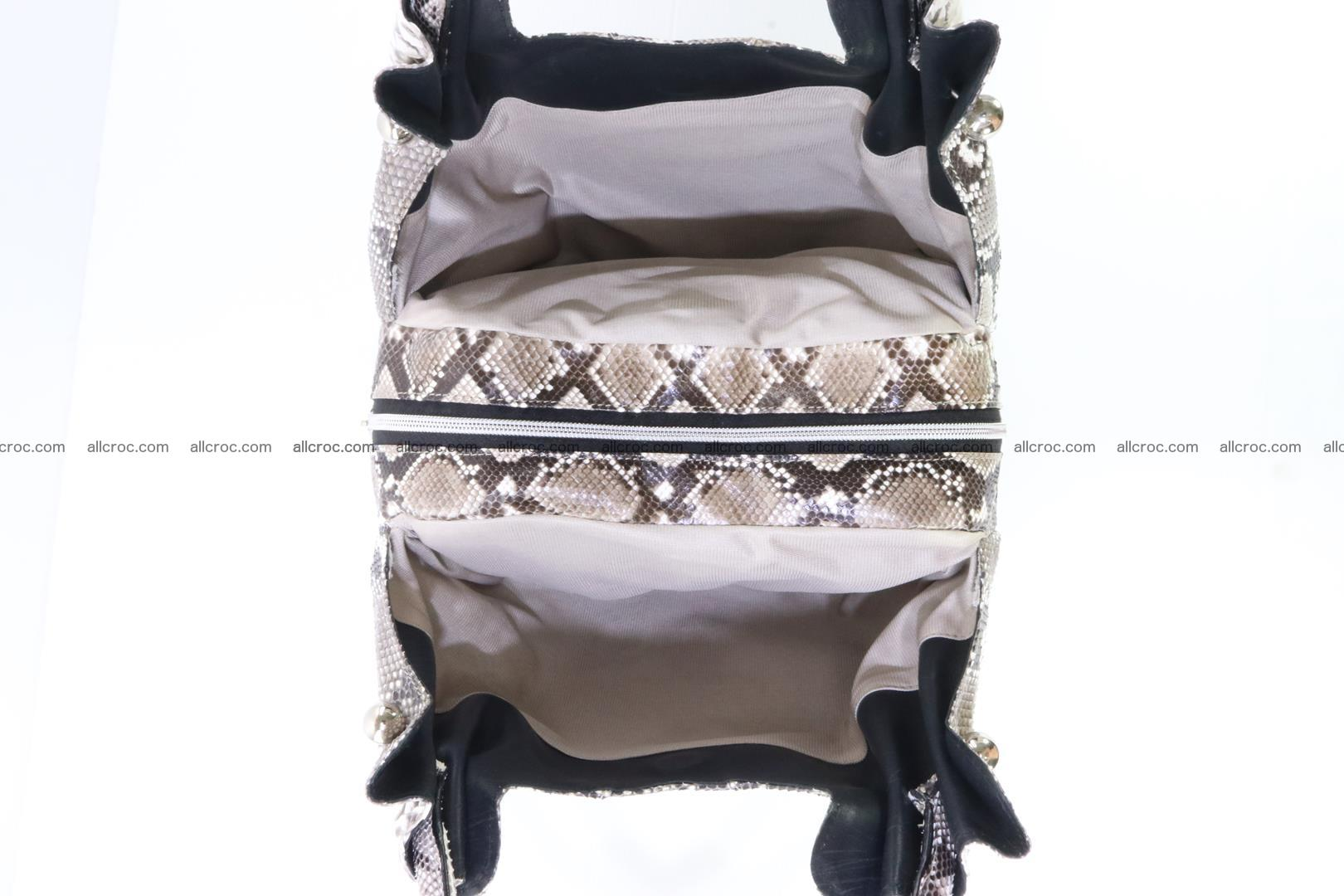Handbag for lady from Python and stingray skin 167 Foto 11