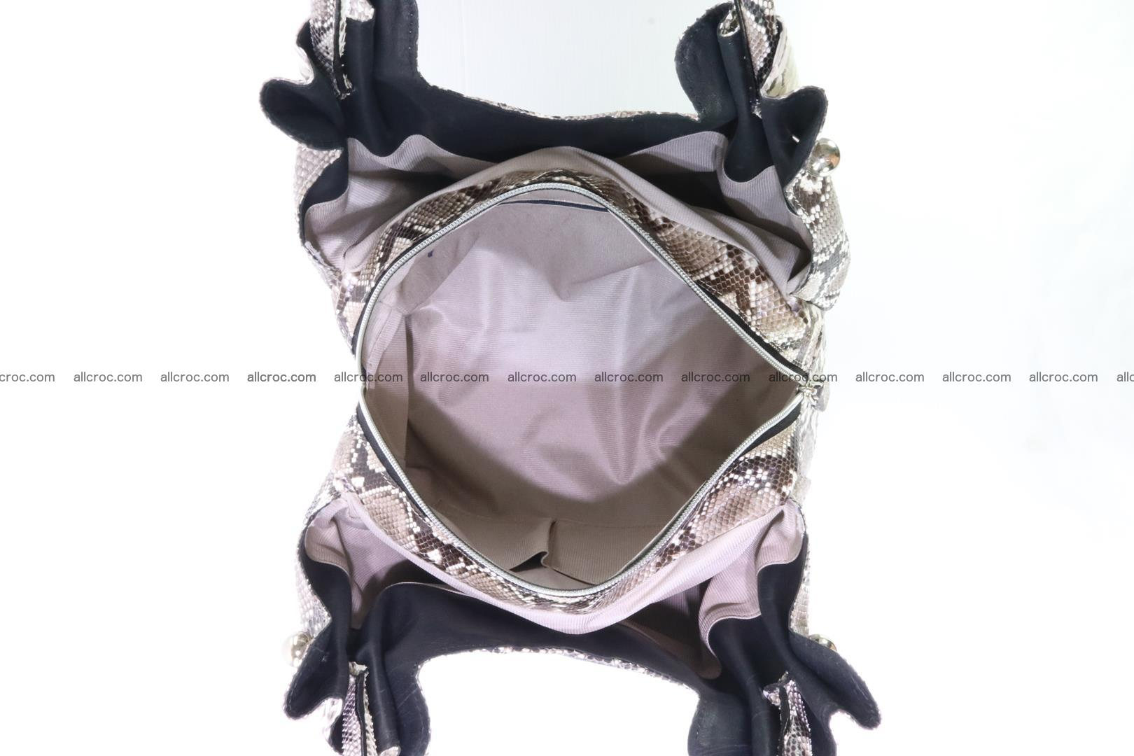 Handbag for lady from Python and stingray skin 167 Foto 12