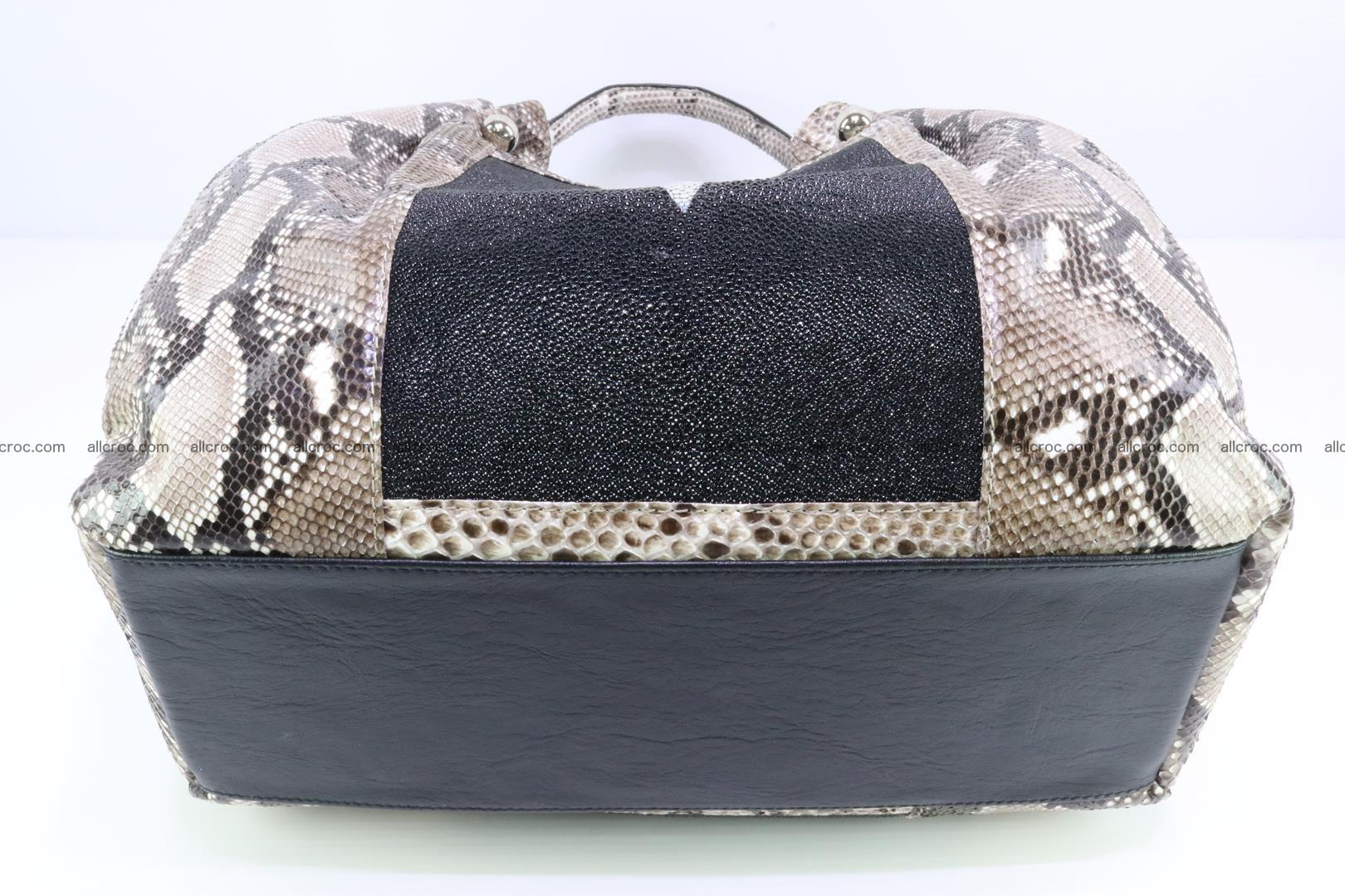 Handbag for lady from Python and stingray skin 167 Foto 10
