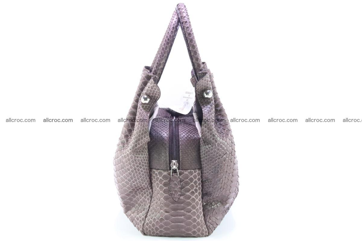 Handbag for women from genuine python and stingray leather 256 Foto 5