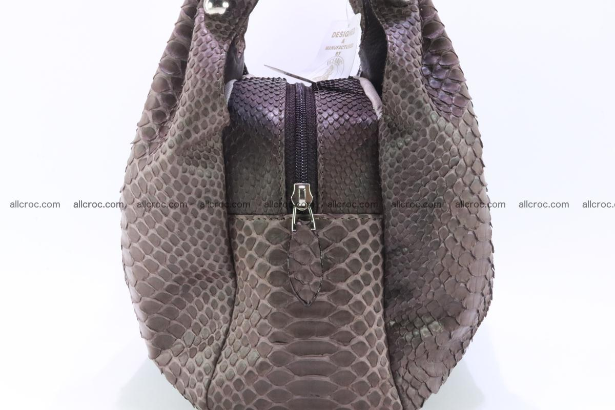 Handbag for women from genuine python and stingray leather 256 Foto 1