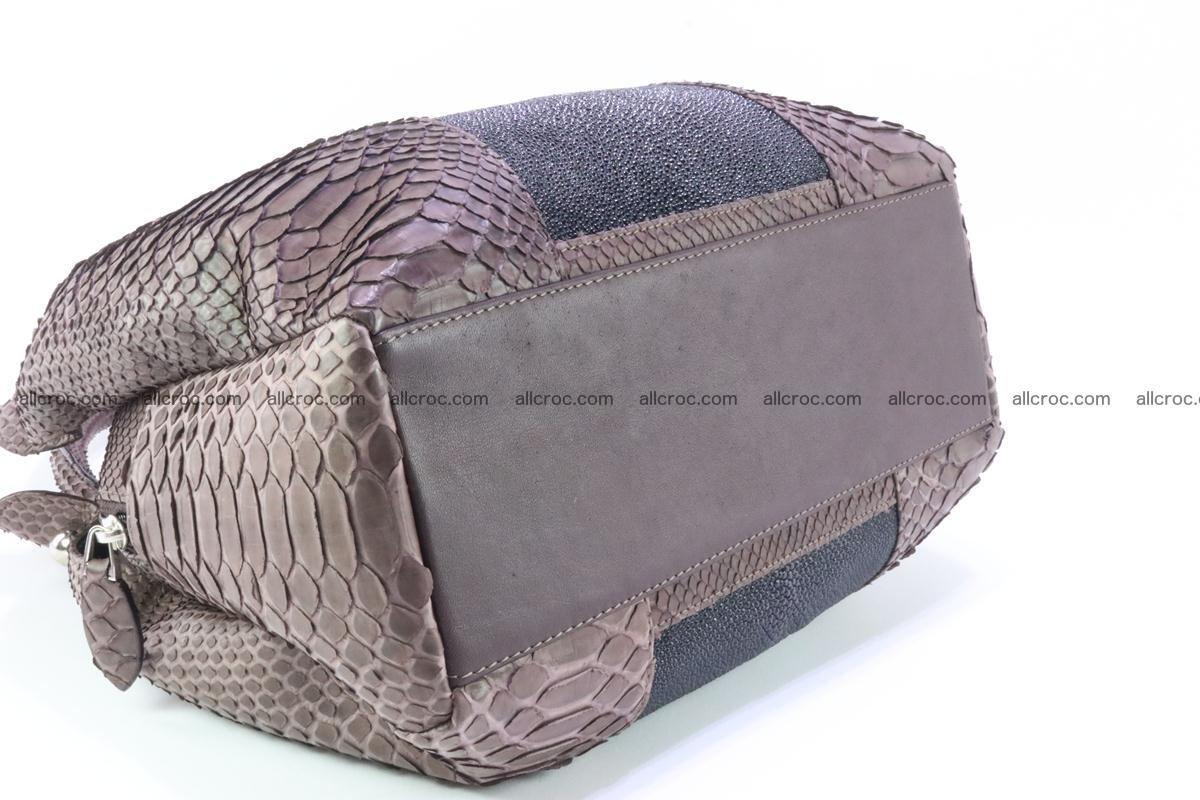 Handbag for women from genuine python and stingray leather 256 Foto 7