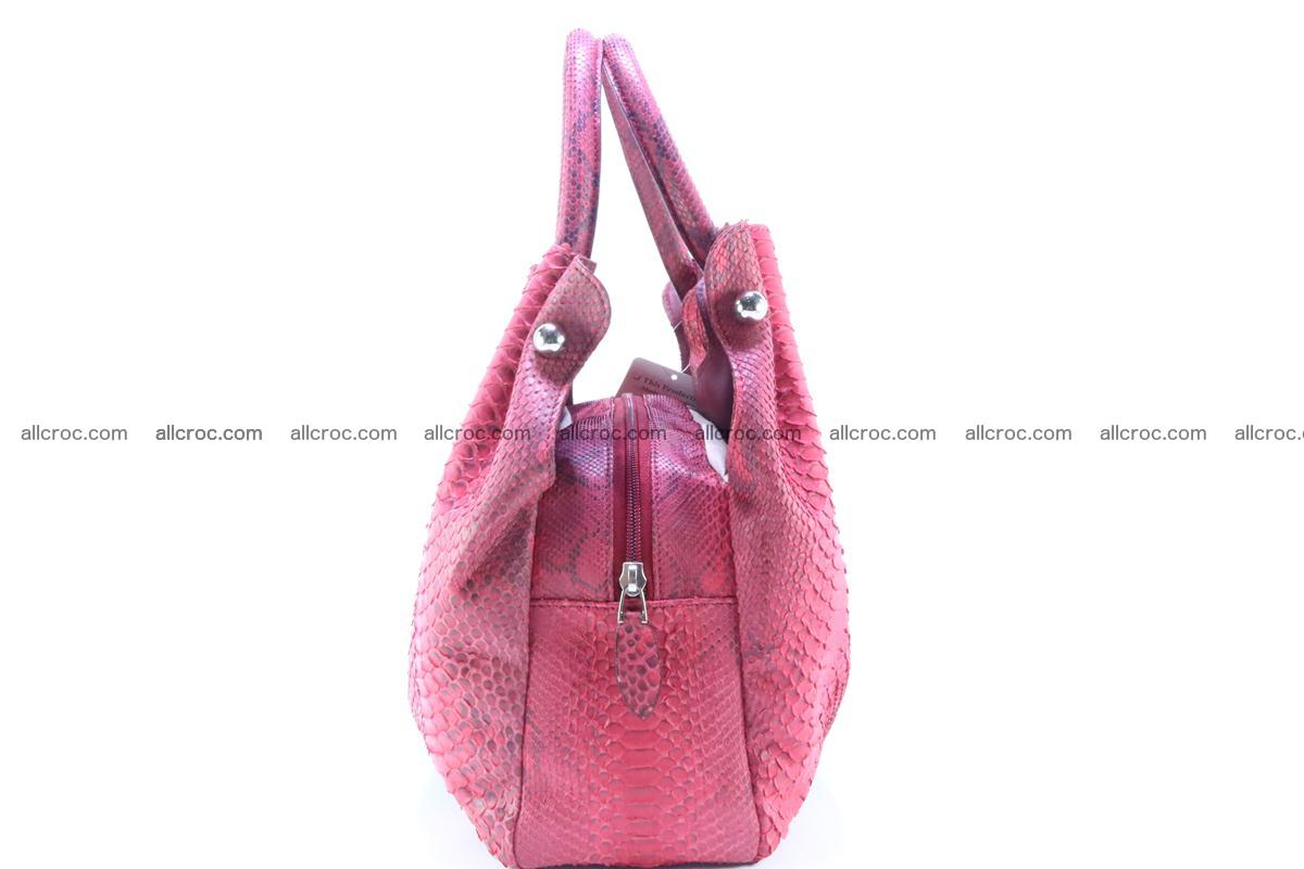 Handbag for women from genuine python and stingray leather 257 Foto 4