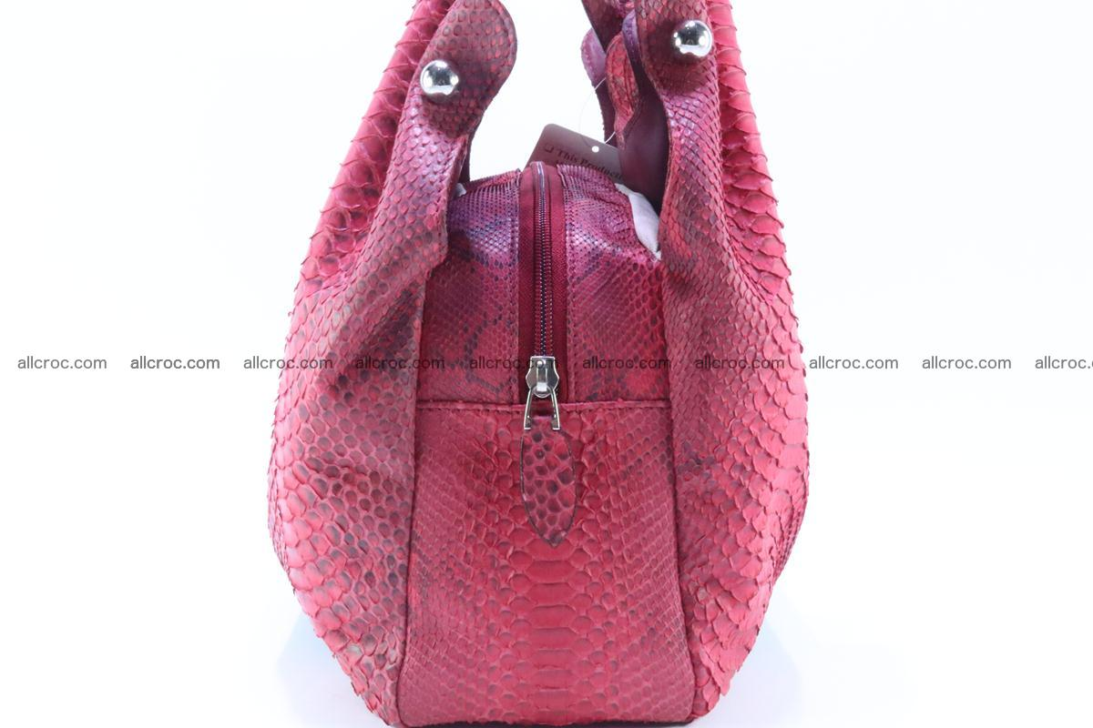 Handbag for women from genuine python and stingray leather 257 Foto 5