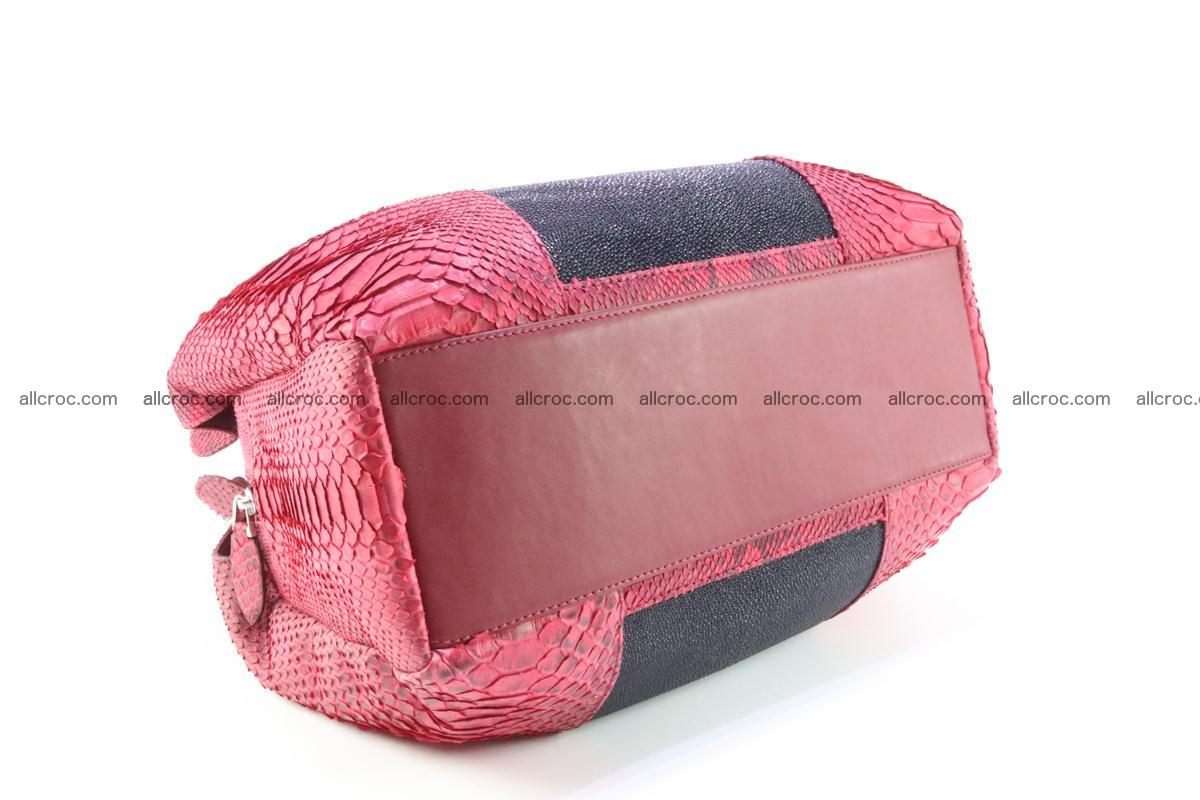Handbag for women from genuine python and stingray leather 257 Foto 7