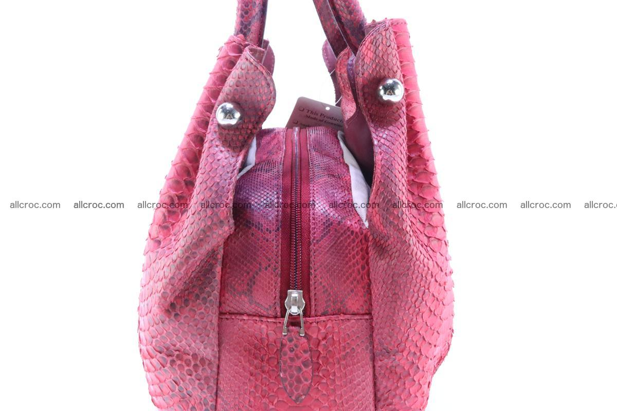 Handbag for women from genuine python and stingray leather 257 Foto 6