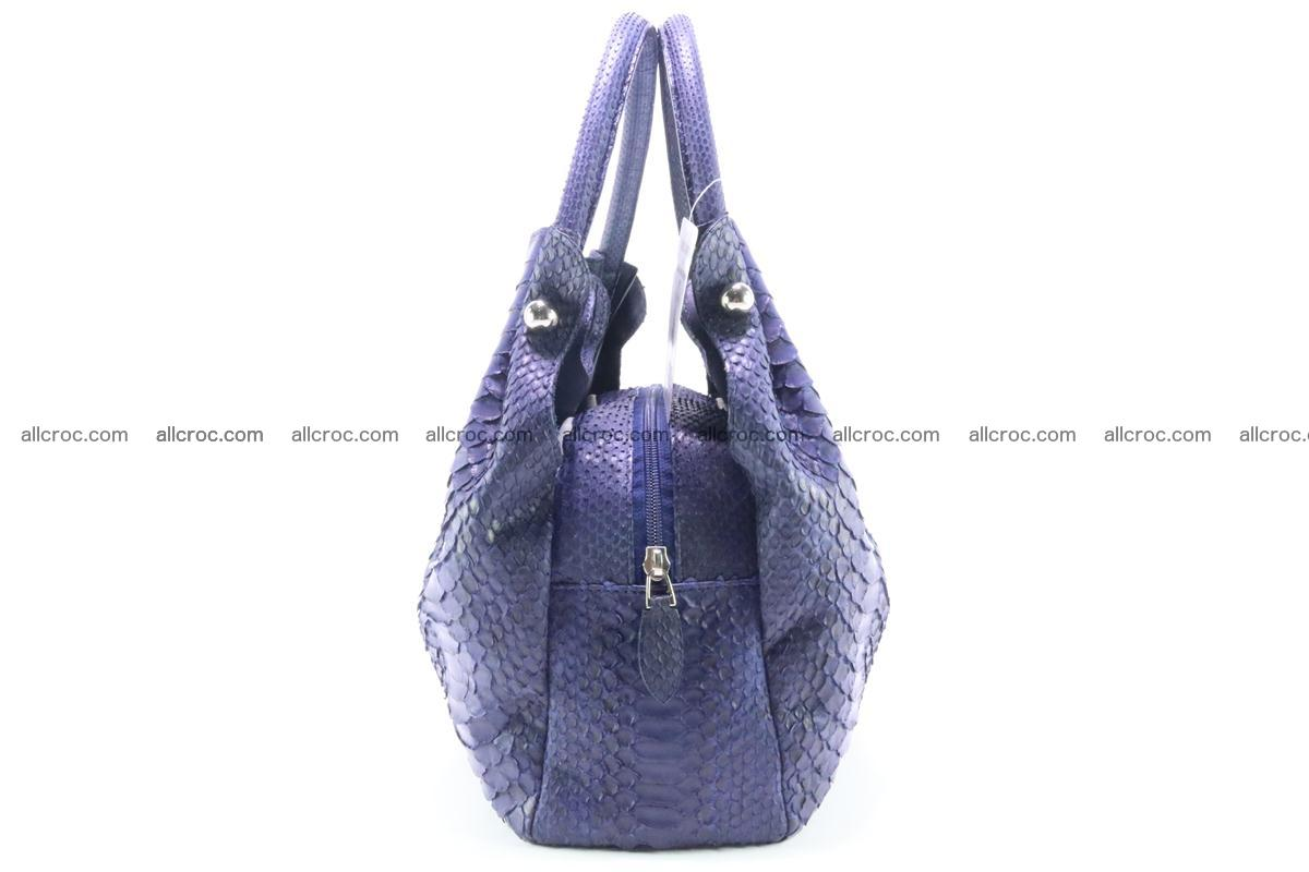 Handbag for women from genuine python and stingray leather 258 Foto 4