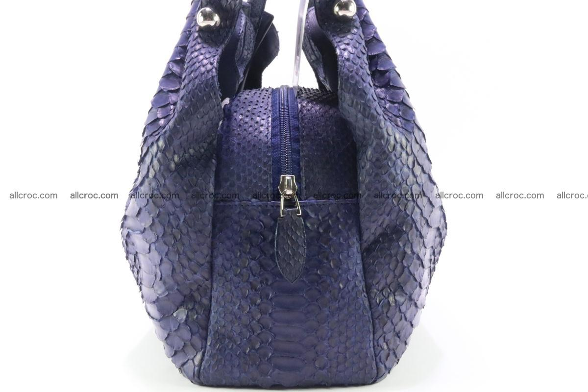 Handbag for women from genuine python and stingray leather 258 Foto 3