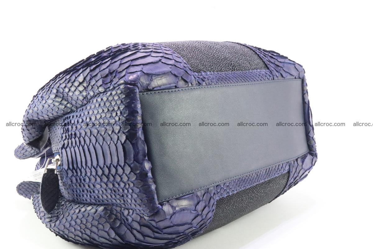 Handbag for women from genuine python and stingray leather 258 Foto 5