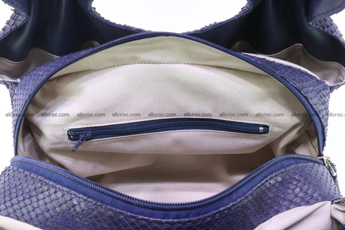 Handbag for women from genuine python and stingray leather 258 Foto 10