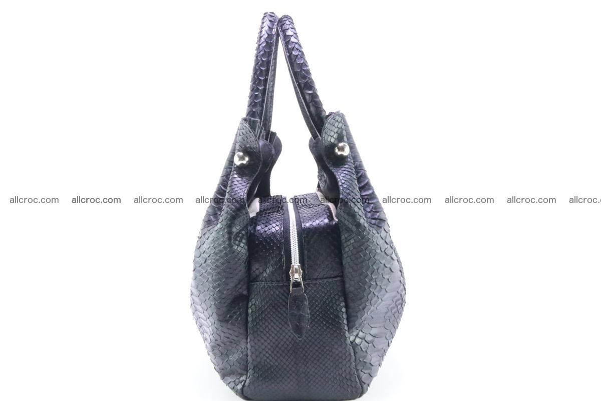 Handbag for women from genuine python and stingray leather 259 Foto 4