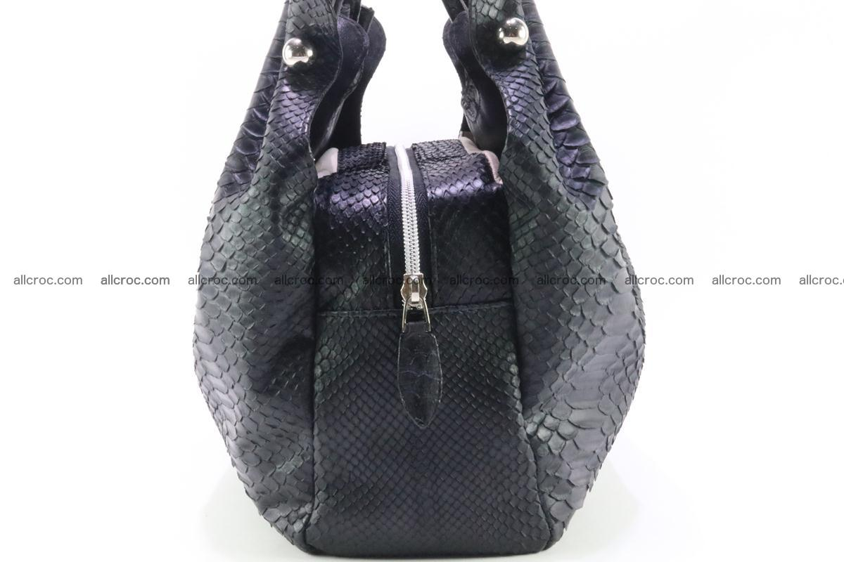 Handbag for women from genuine python and stingray leather 259 Foto 5