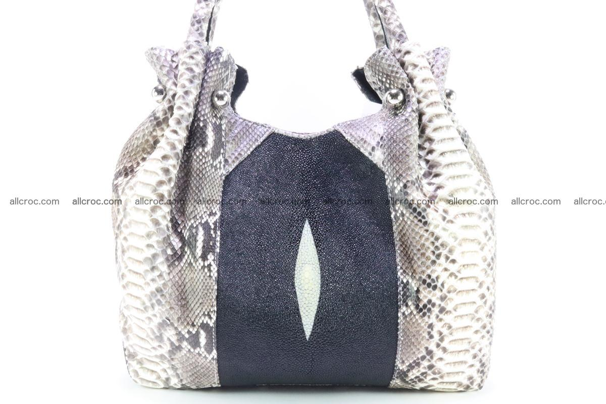 Handbag for women from genuine python and stingray leather 260 Foto 1