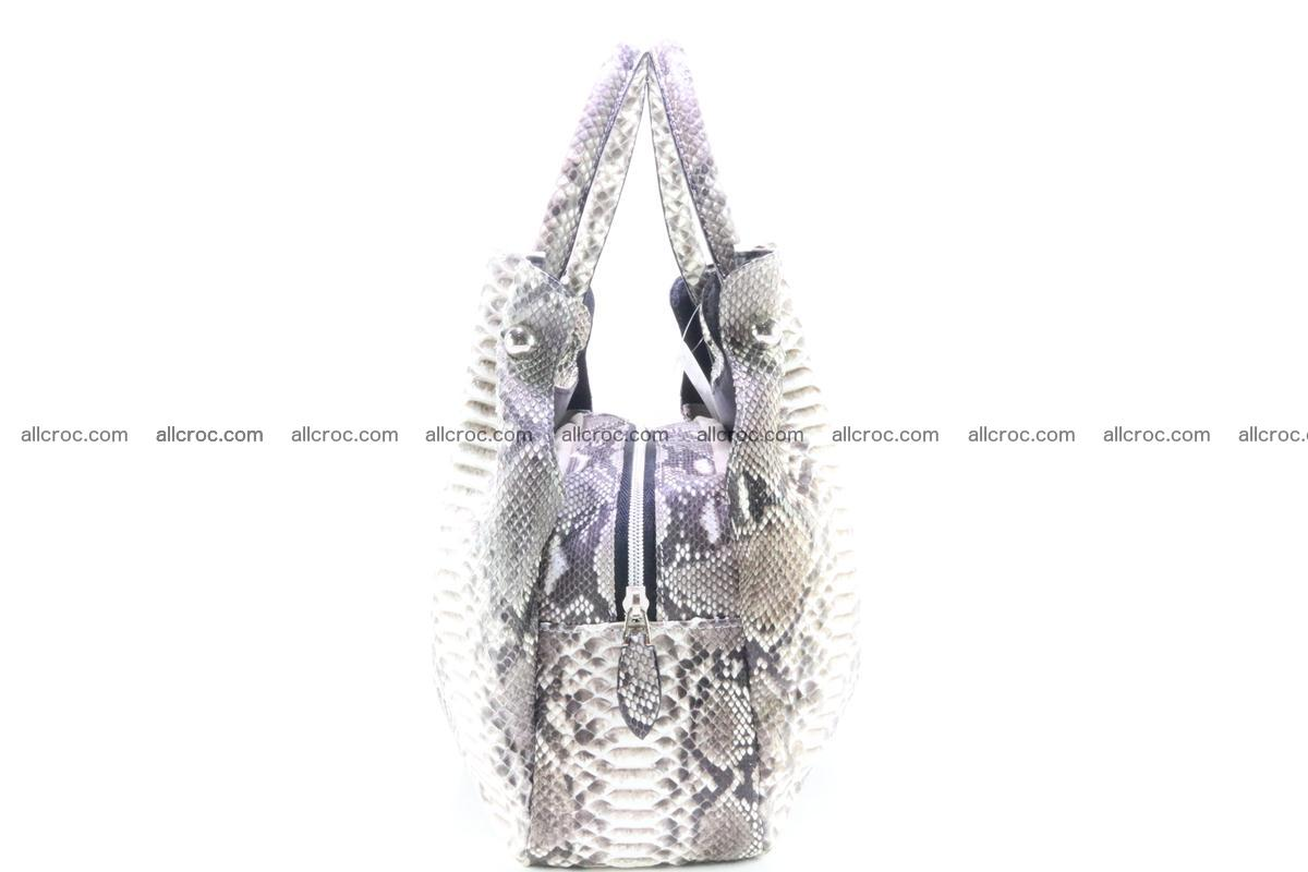Handbag for women from genuine python and stingray leather 260 Foto 3
