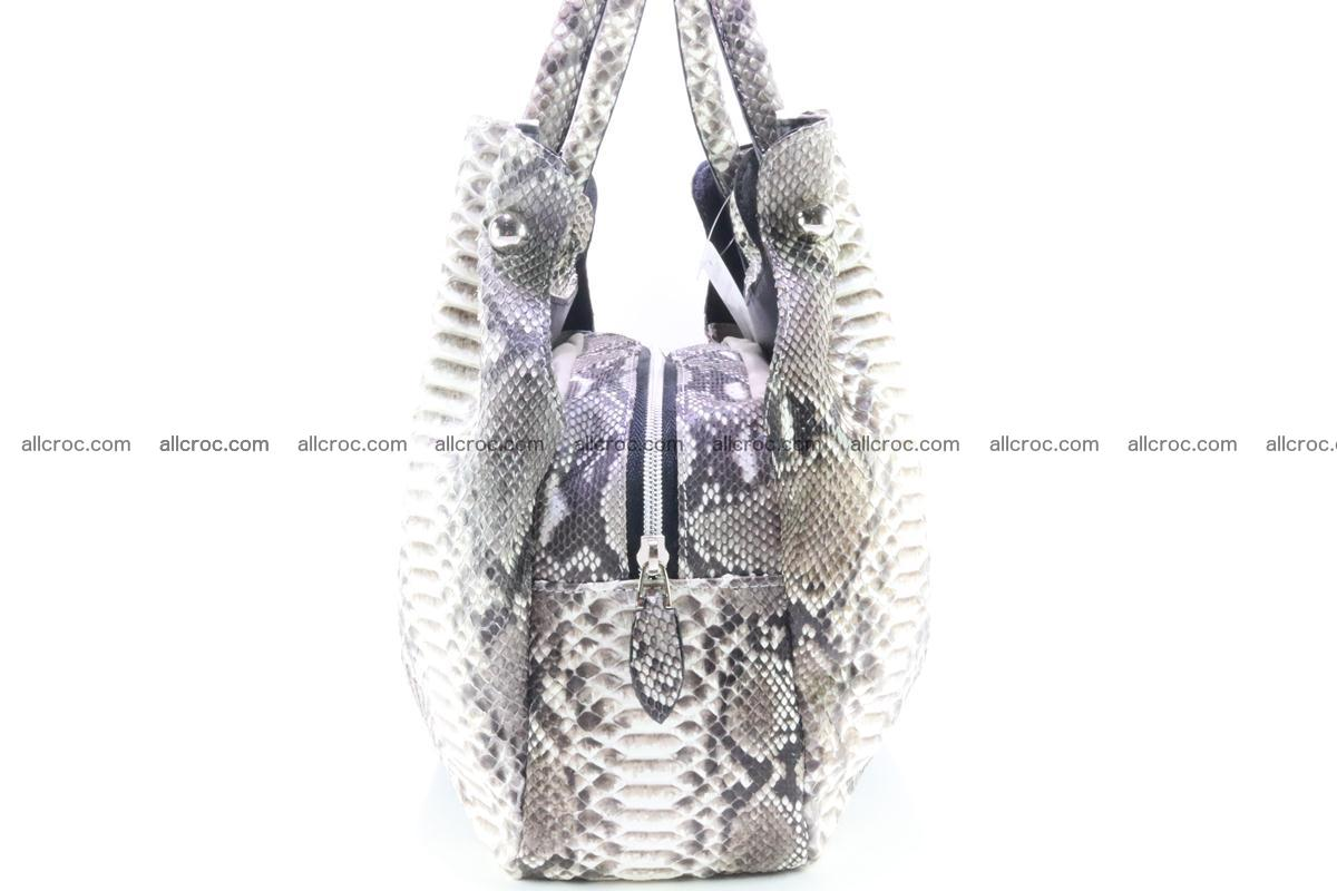 Handbag for women from genuine python and stingray leather 260 Foto 4