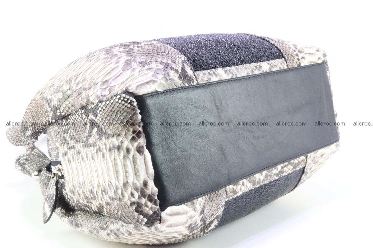 Handbag for women from genuine python and stingray leather 260 Foto 5