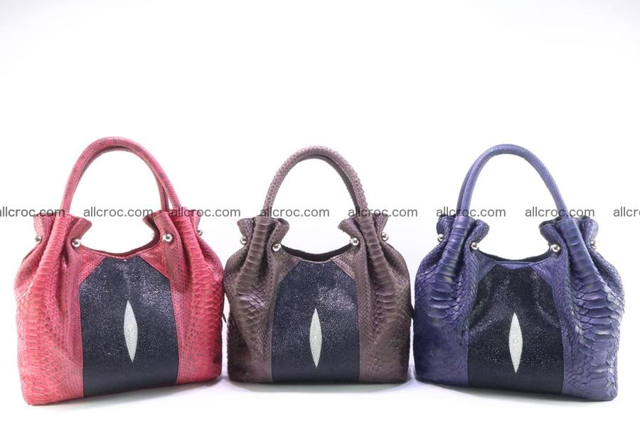 for blog -1 Handbag for women from genuine python and stingray leather 260