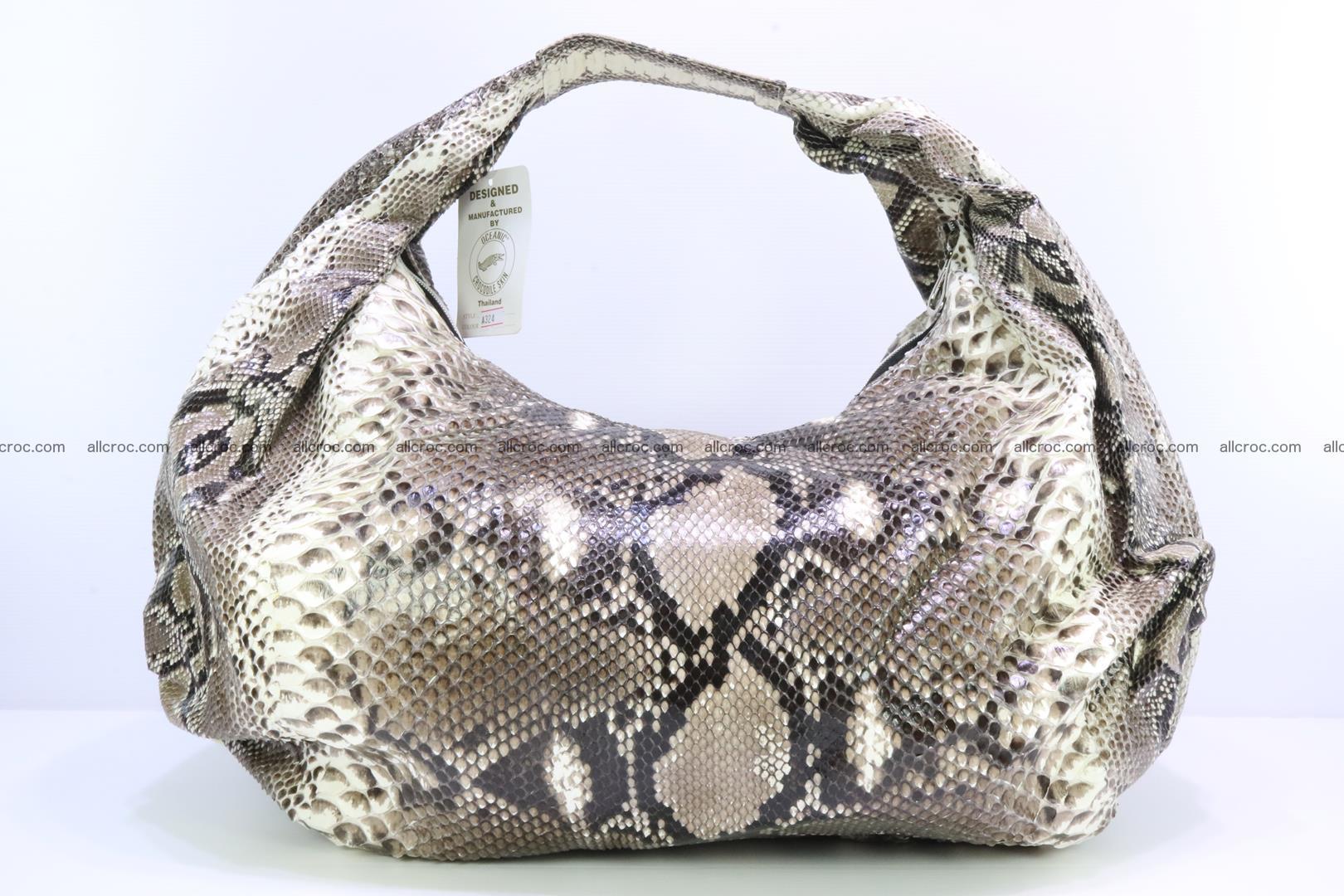 Handbag for women from genuine python skin 212 Foto 0
