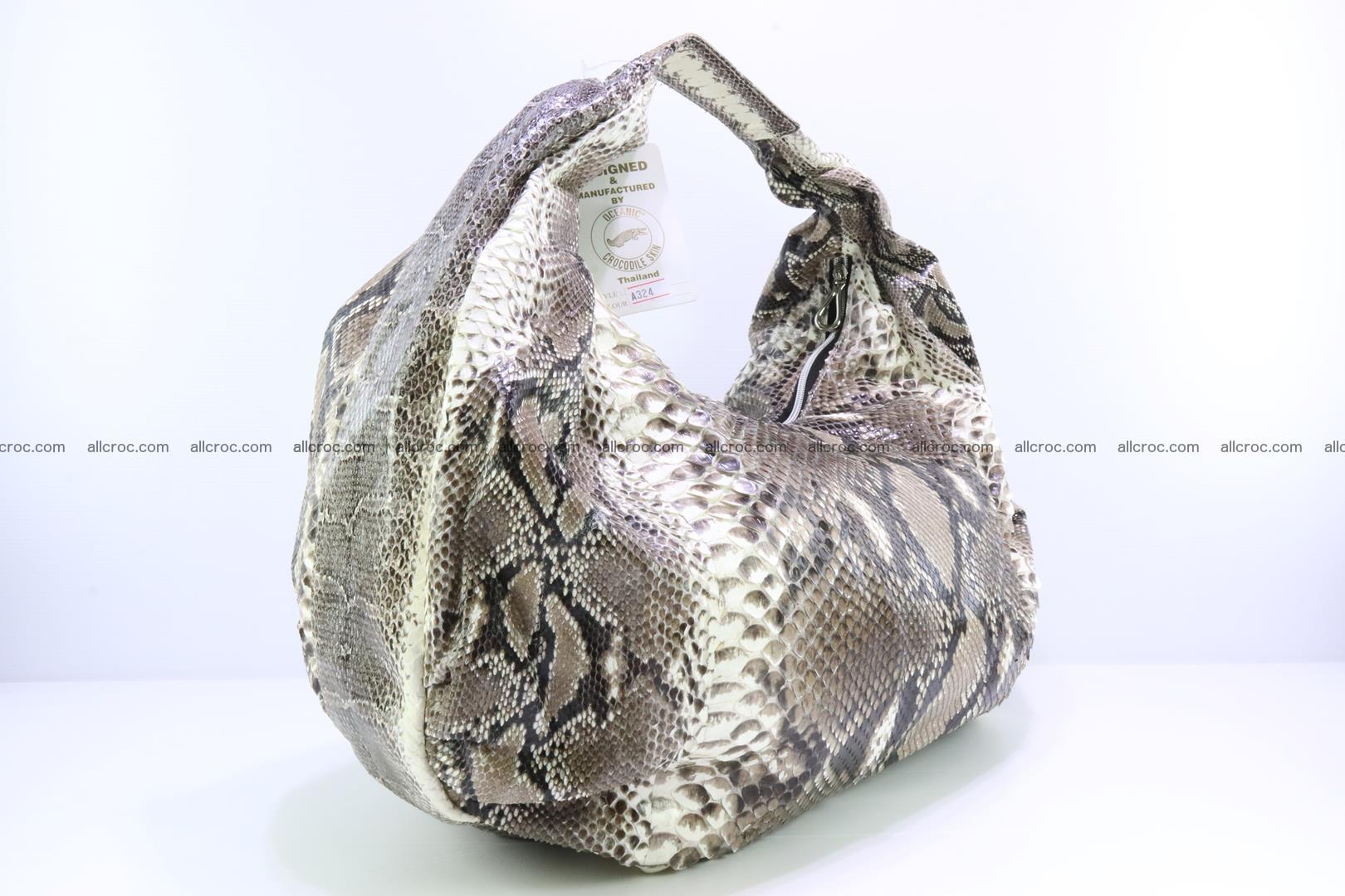 Handbag for women from genuine python skin 212 Foto 1