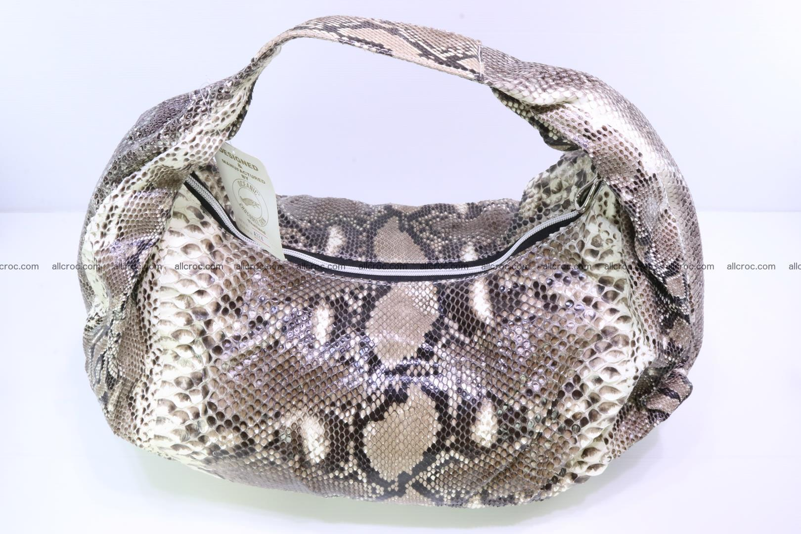 Handbag for women from genuine python skin 212 Foto 4