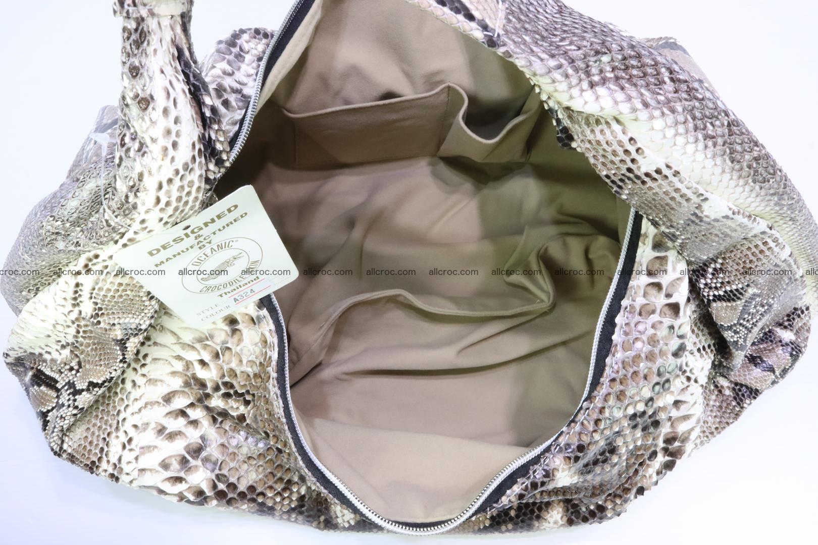 Handbag for women from genuine python skin 212 Foto 8