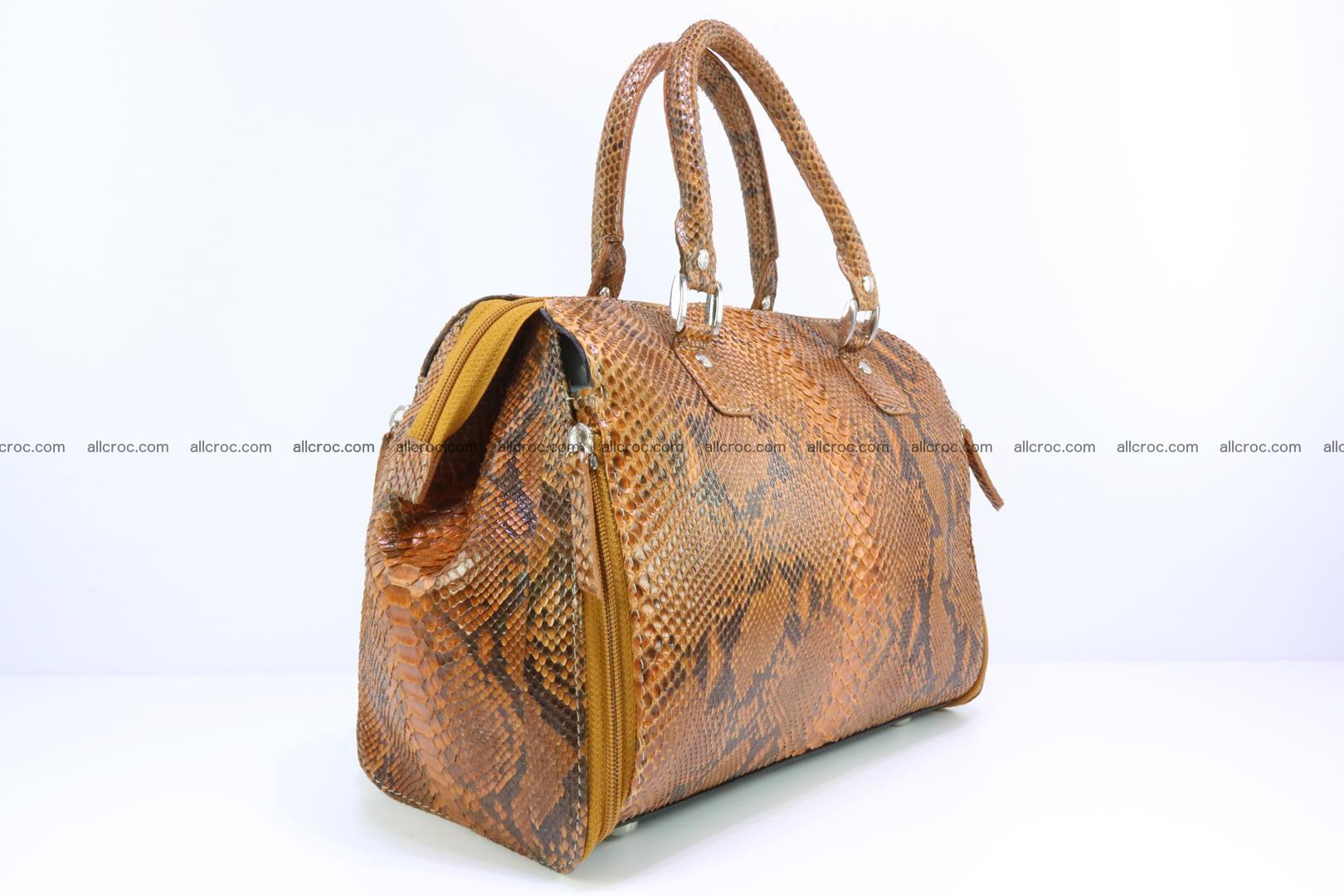 Handbag for women from genuine python skin 213 Foto 1