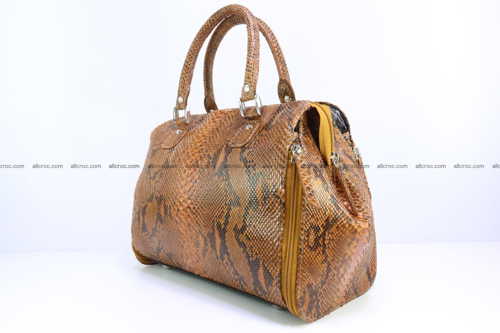 Handbag for women from genuine python skin 213 Foto 2