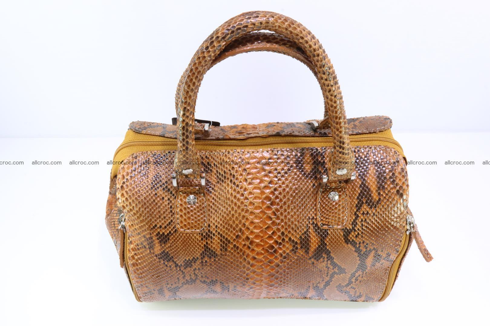 Handbag for women from genuine python skin 213 Foto 4