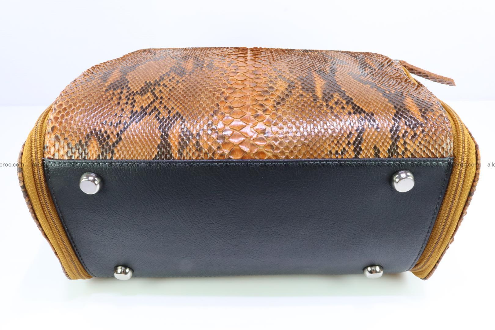 Handbag for women from genuine python skin 213 Foto 8