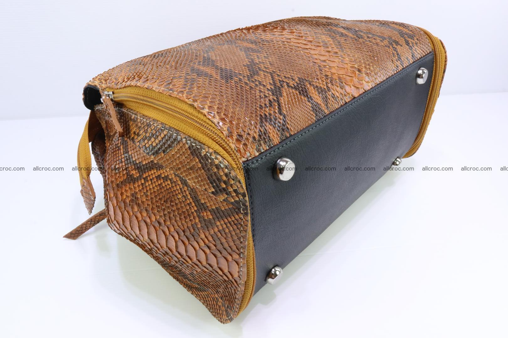 Handbag for women from genuine python skin 213 Foto 9