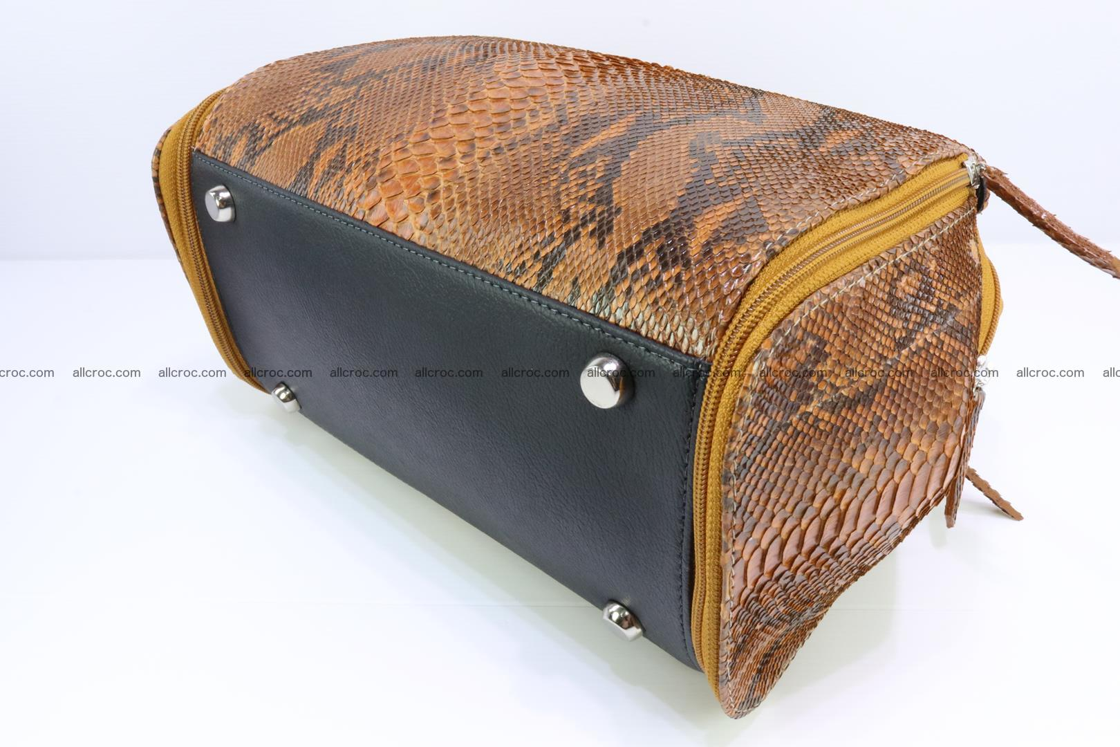 Handbag for women from genuine python skin 213 Foto 10