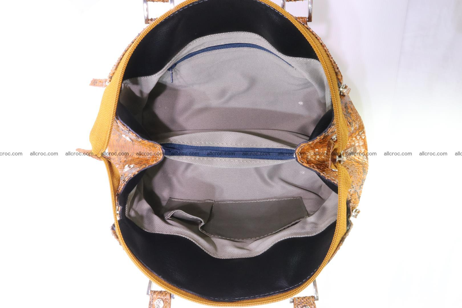 Handbag for women from genuine python skin 213 Foto 11