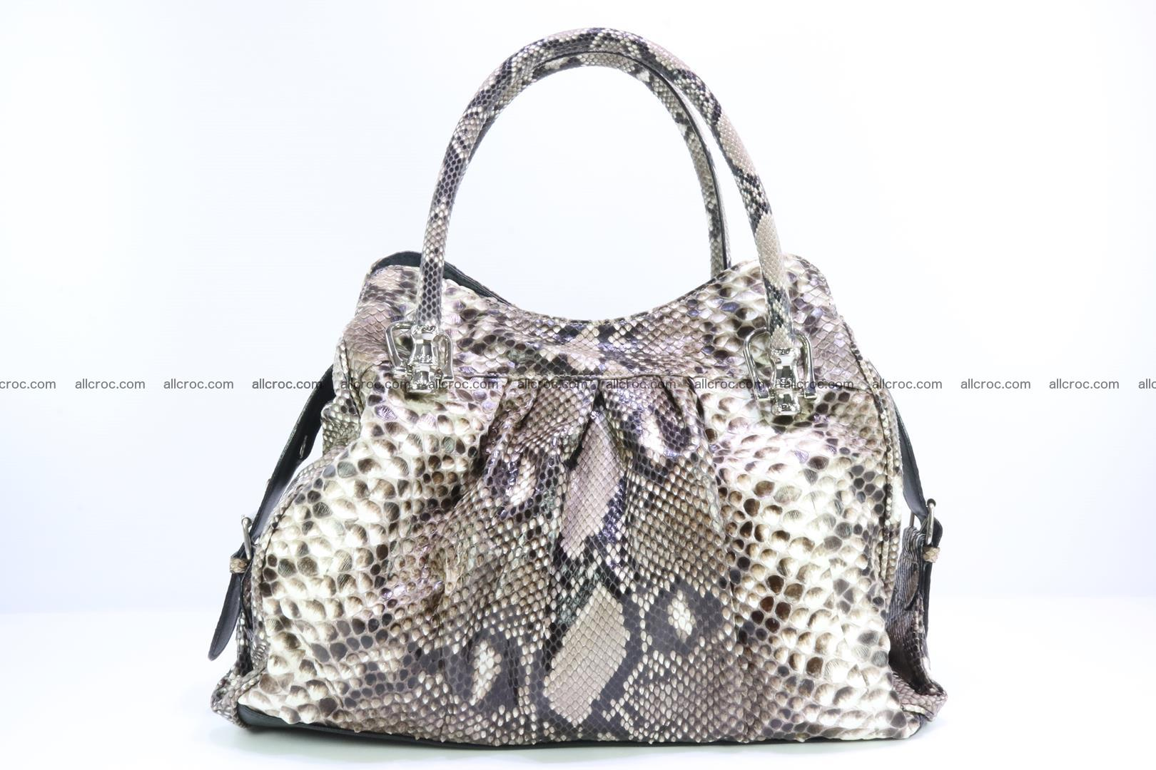 Handbag for women from genuine python skin 215 Foto 0