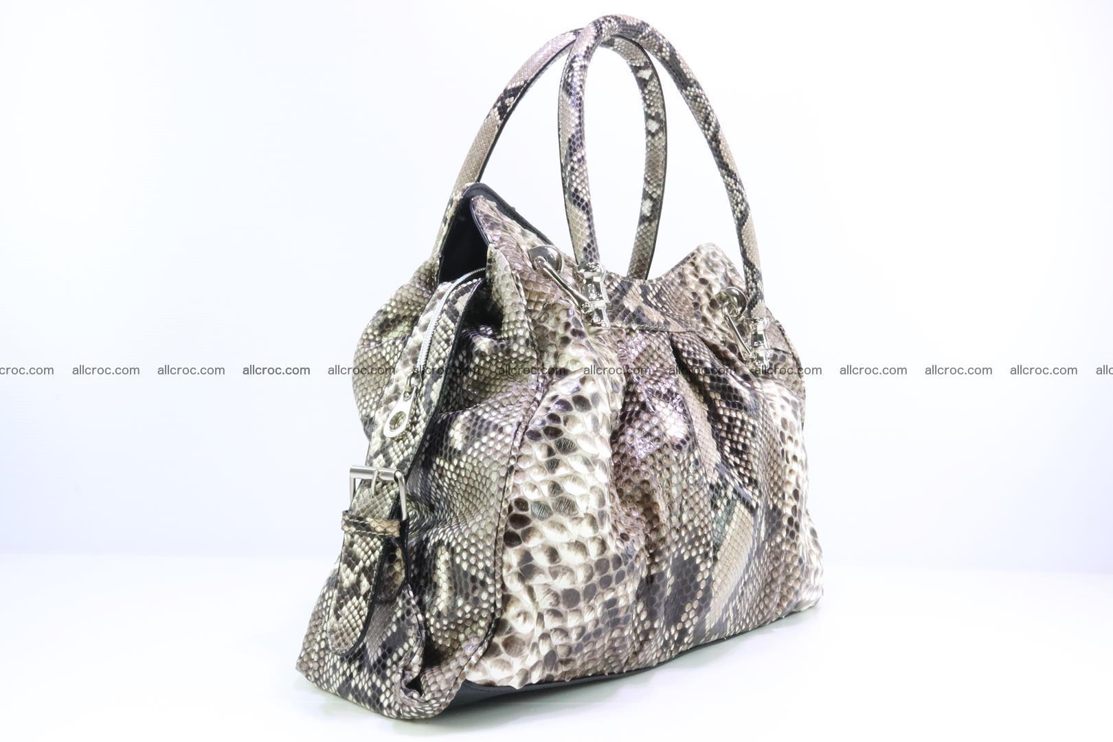 Handbag for women from genuine python skin 215 Foto 1