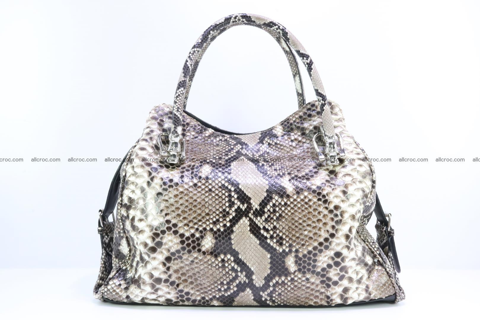 Handbag for women from genuine python skin 215 Foto 3