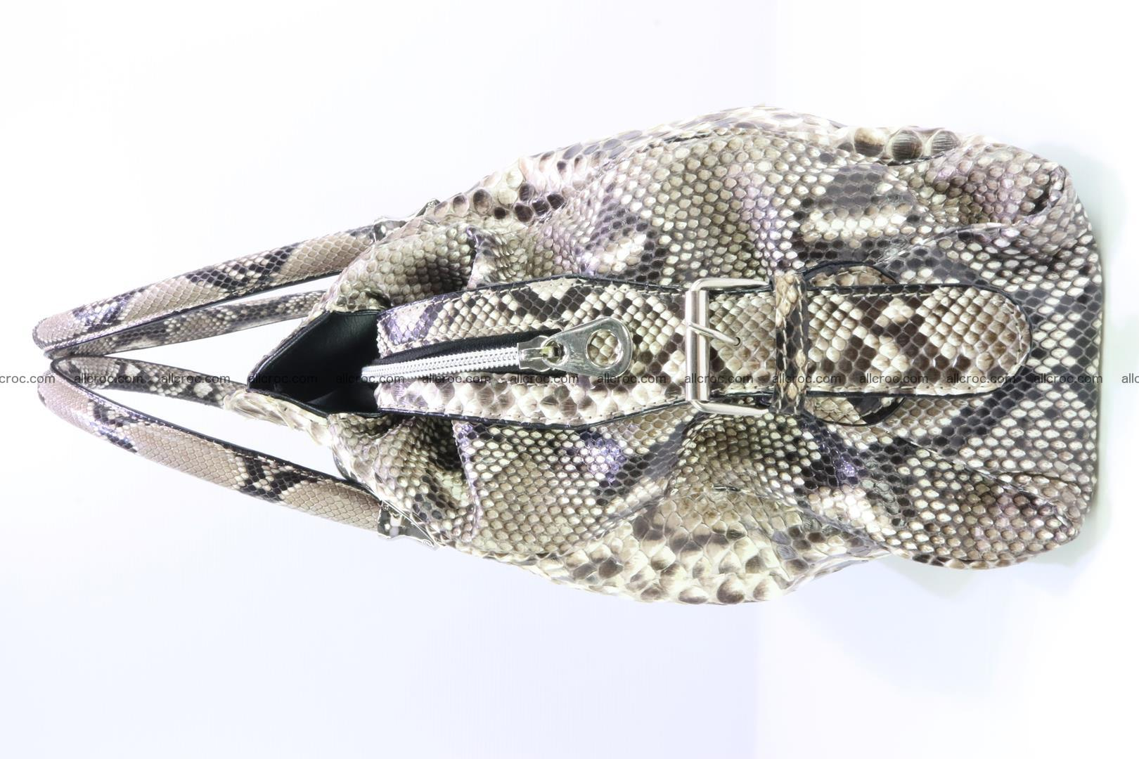 Handbag for women from genuine python skin 215 Foto 4