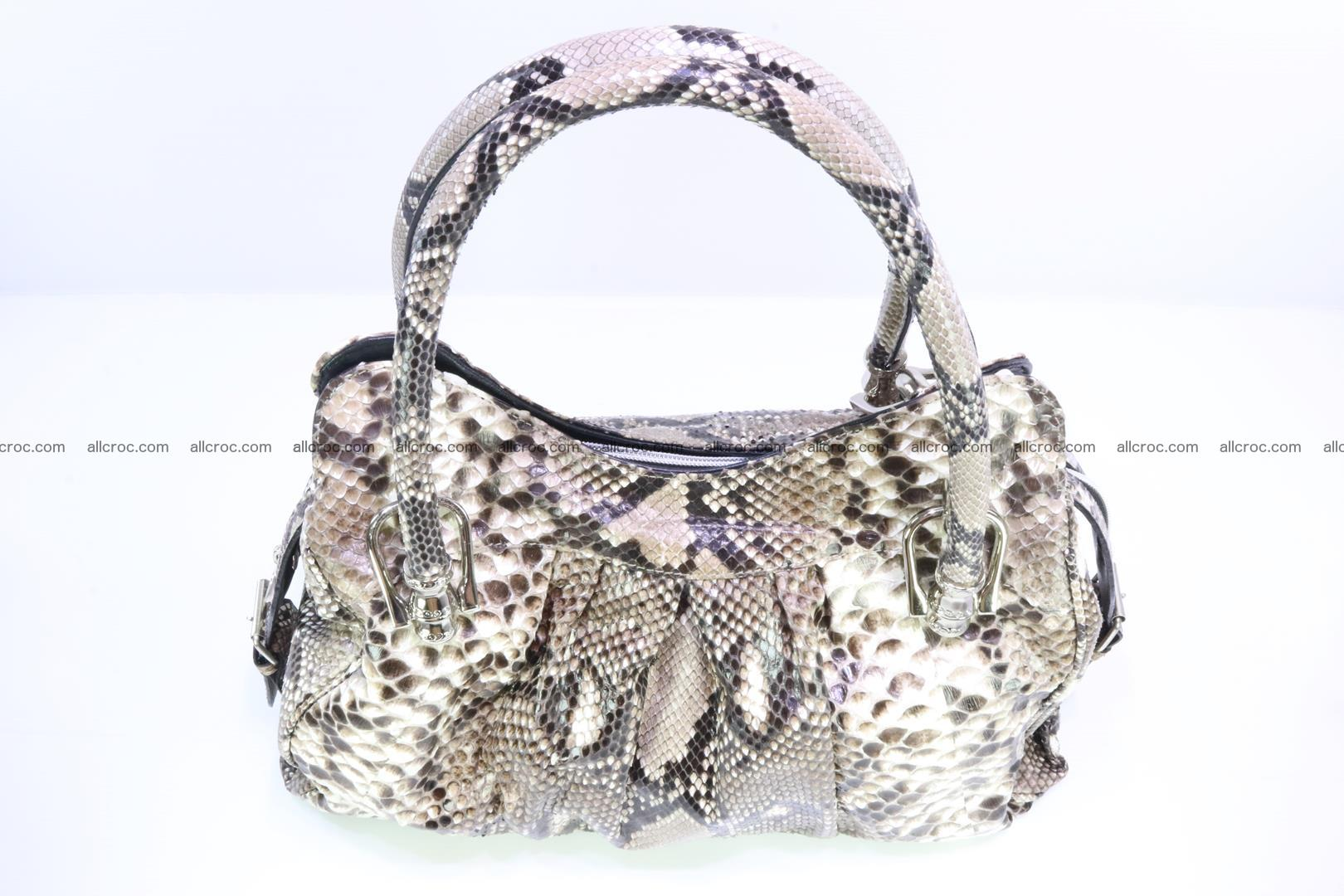 Handbag for women from genuine python skin 215 Foto 5