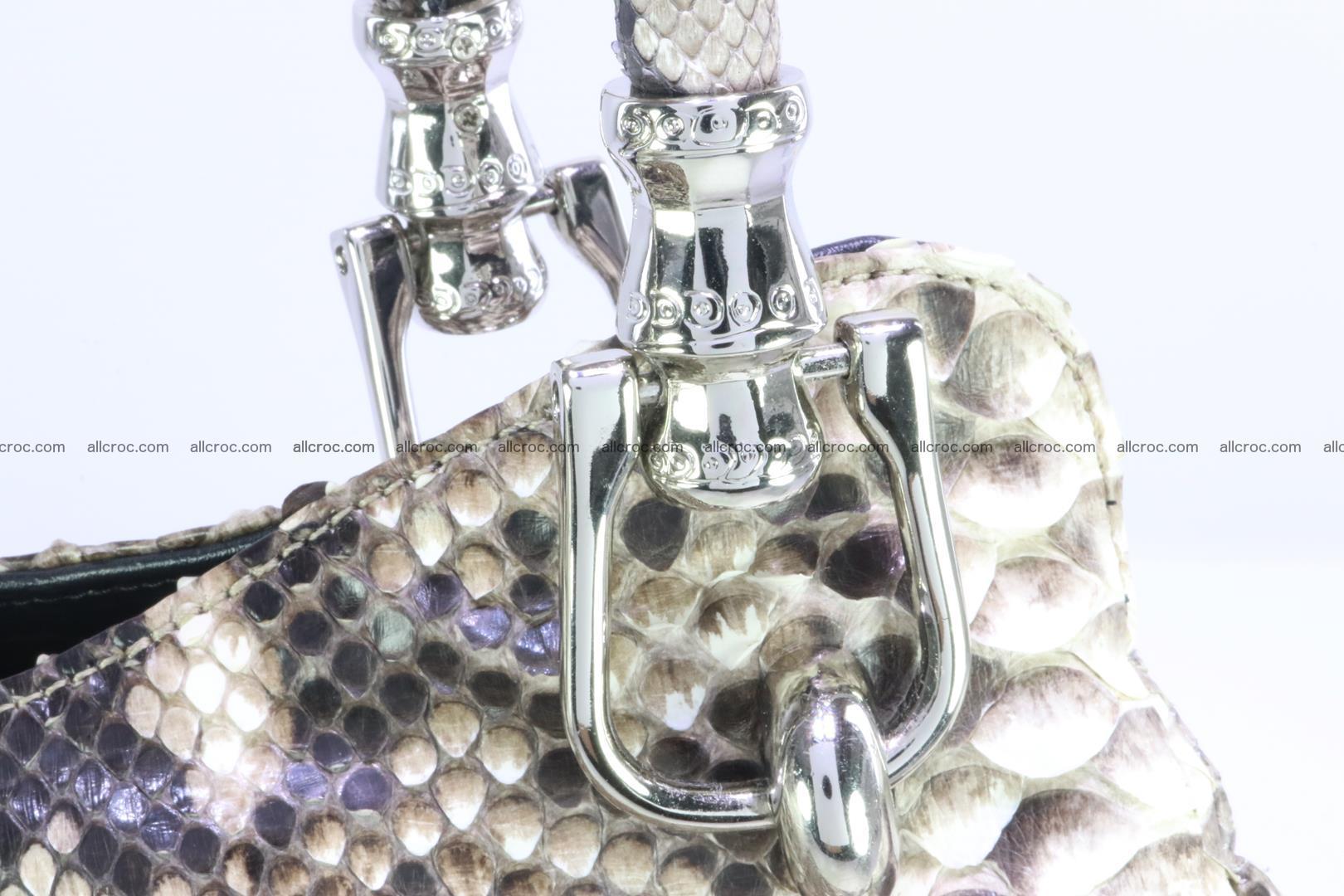 Handbag for women from genuine python skin 215 Foto 7