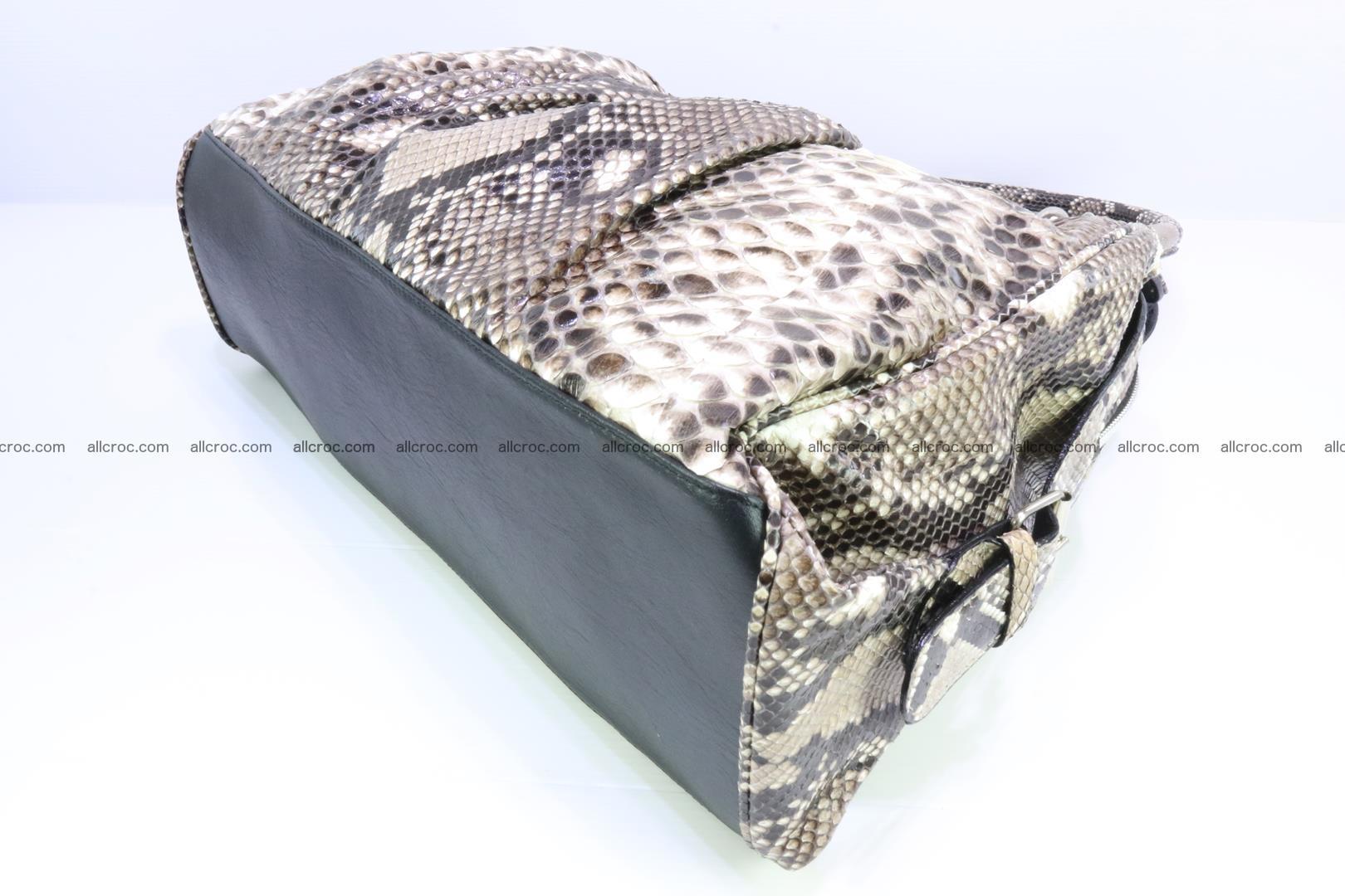 Handbag for women from genuine python skin 215 Foto 11