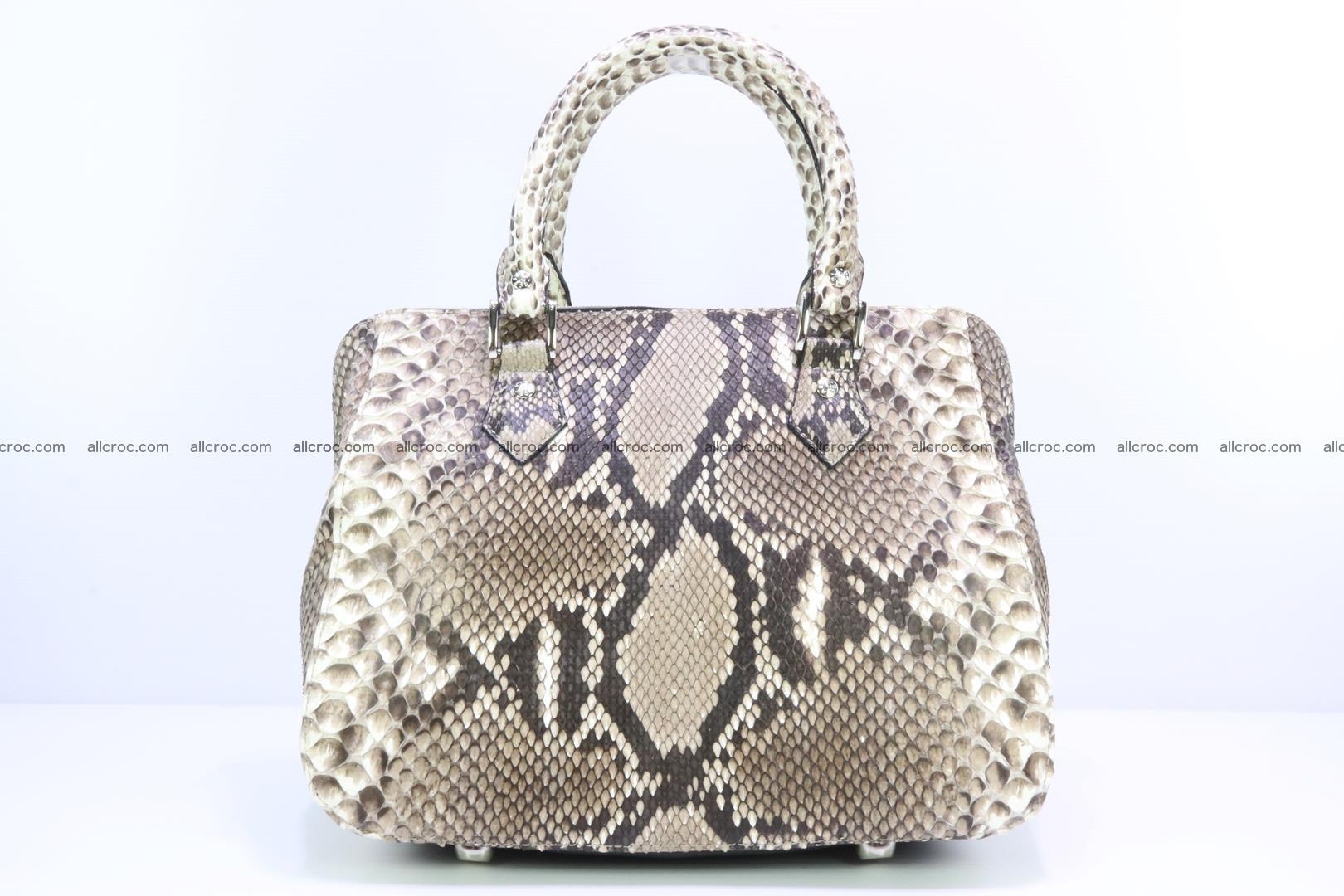 Handbag for women from genuine python skin 216 Foto 0