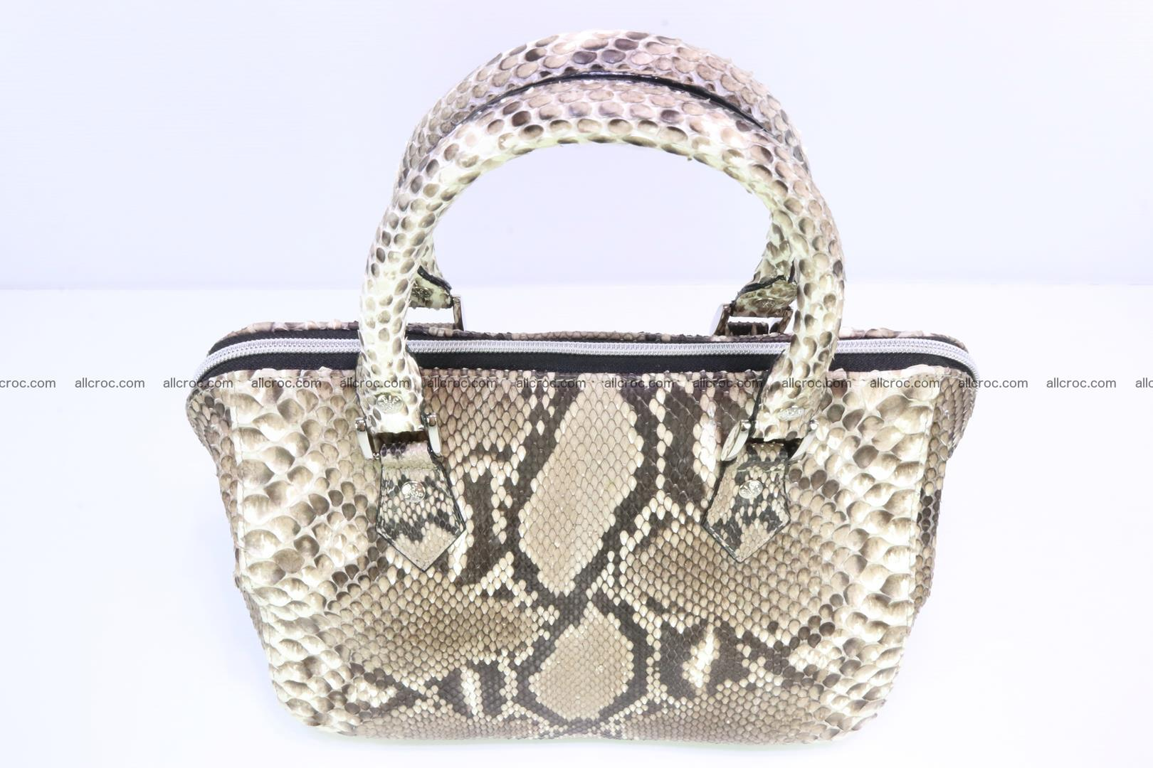 Handbag for women from genuine python skin 216 Foto 4