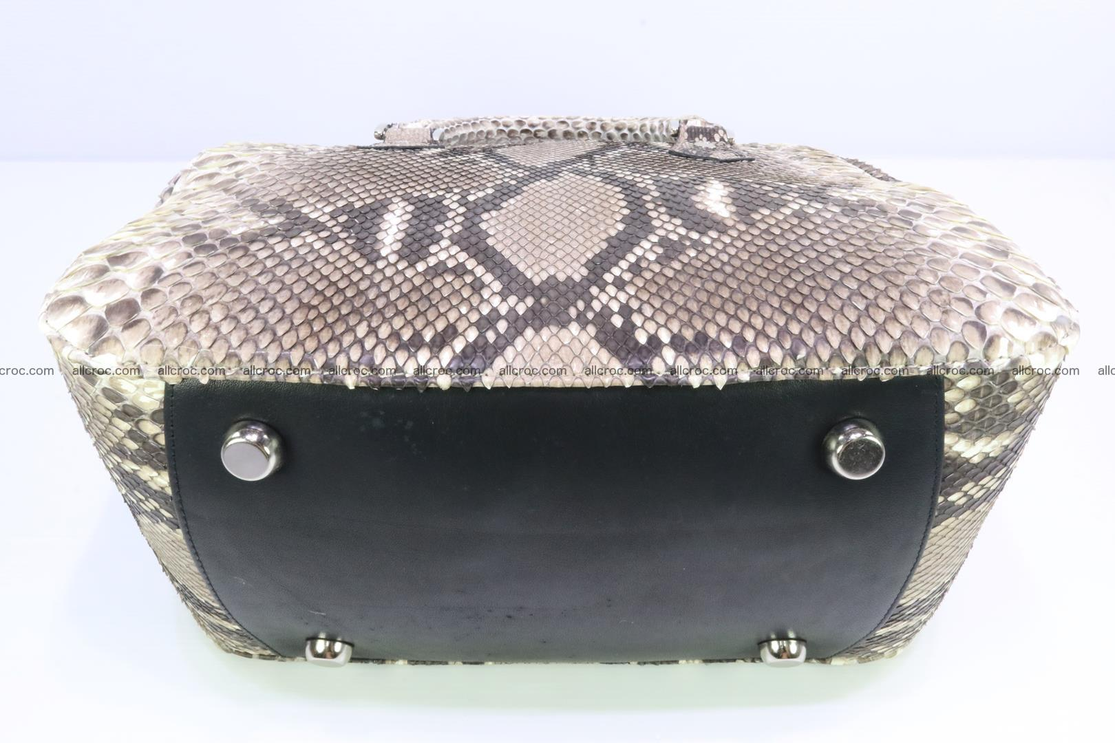 Handbag for women from genuine python skin 216 Foto 5