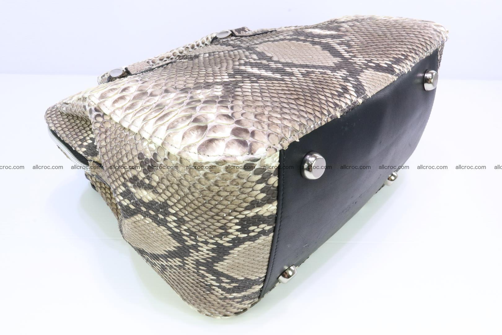 Handbag for women from genuine python skin 216 Foto 6