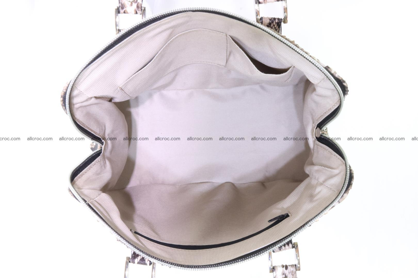 Handbag for women from genuine python skin 216 Foto 9